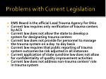 problems with current legislation