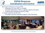 esf 8 response coordination and control