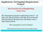 supplement not supplant requirement general1