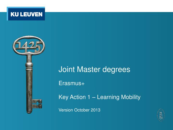 joint master degrees n.