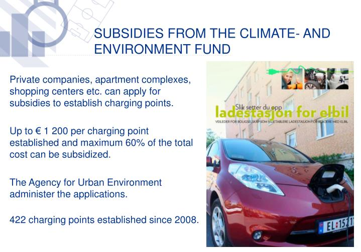 Subsidies from the Climate- and Environment fund