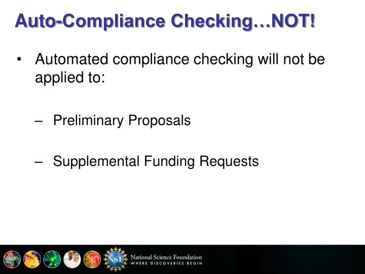 Auto-Compliance Checking…NOT!