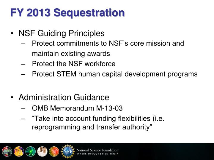 FY 2013 Sequestration