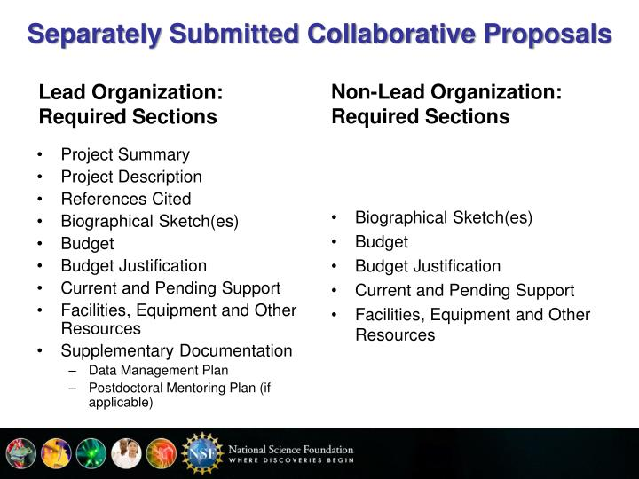 Separately Submitted Collaborative Proposals