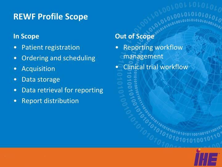 Rewf profile scope