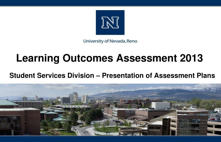 learning outcomes assessment 2013 n.