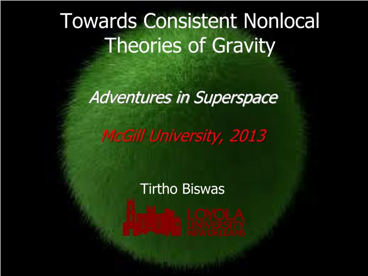 towards consistent nonlocal theories of gravity n.