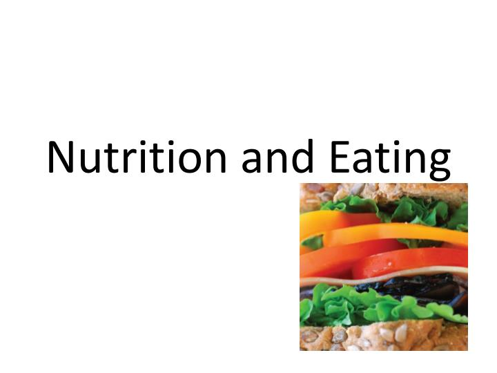 nutrition and eating n.