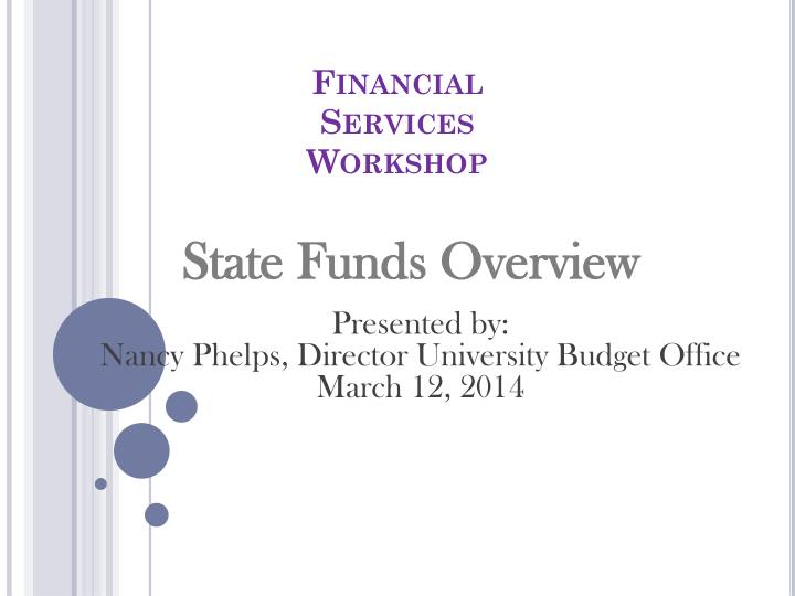 financial services workshop n.