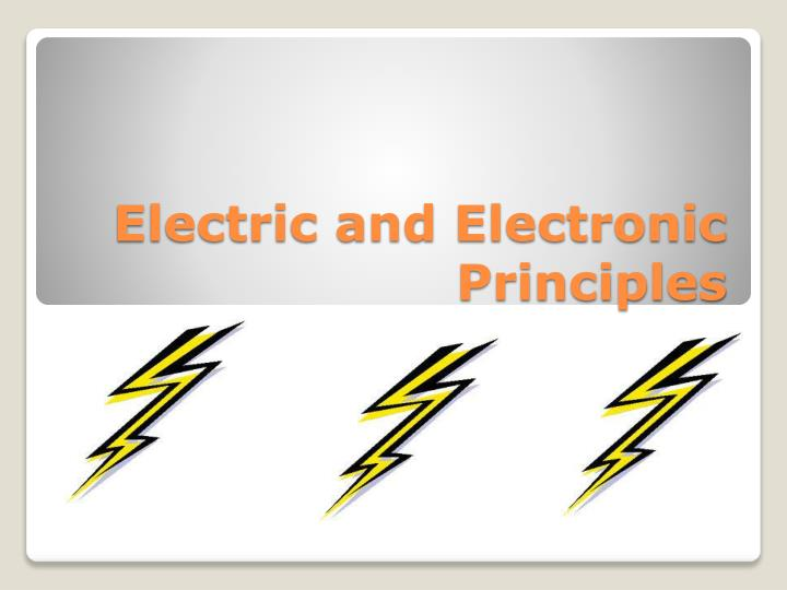 electric and electronic principles n.
