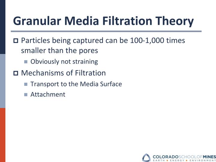 Granular Media Filtration Theory