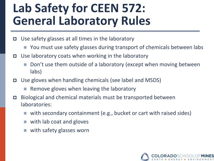 Lab Safety for