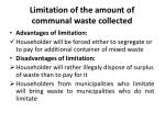 limitation of the amount of communal waste collected1
