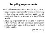 recycling requirements