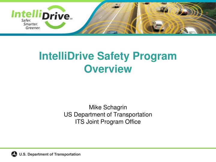 intellidrive safety program overview n.