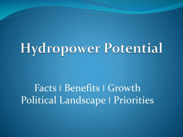 hydropower potential n.