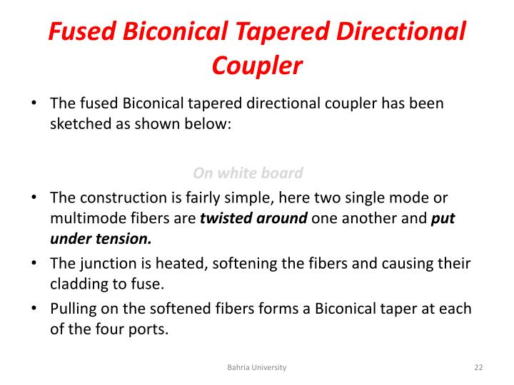 Fused Biconical Tapered
