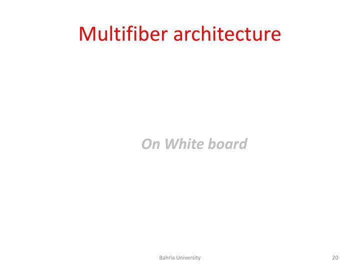 Multifiber architecture