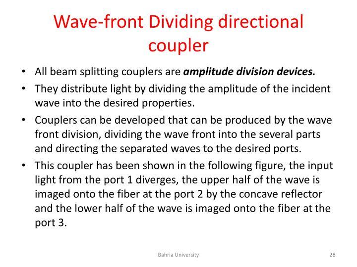 Wave-front Dividing directional coupler