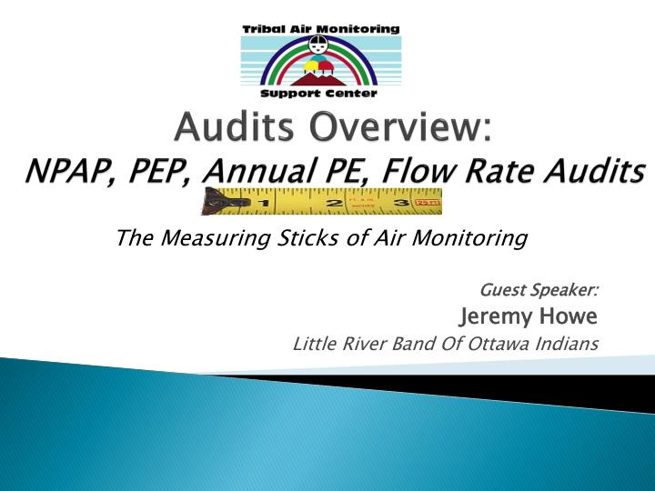 audits overview npap pep annual pe flow rate audits n.