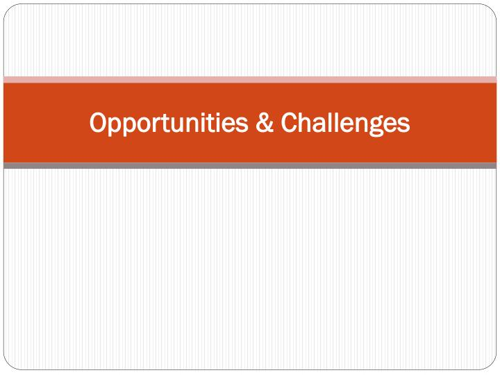 opportunities challenges n.