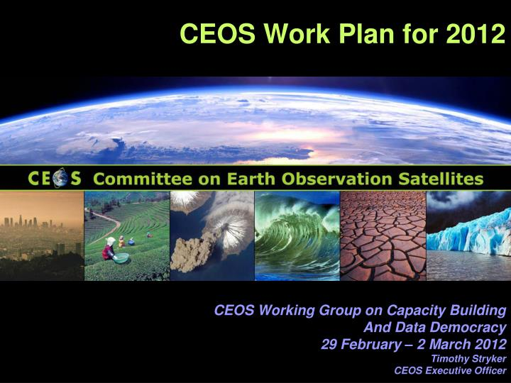 ceos work plan for 2012 n.