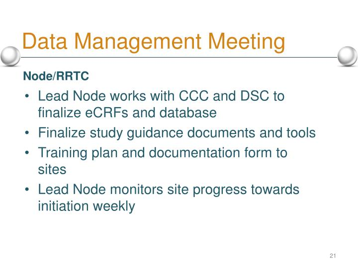 Data Management Meeting