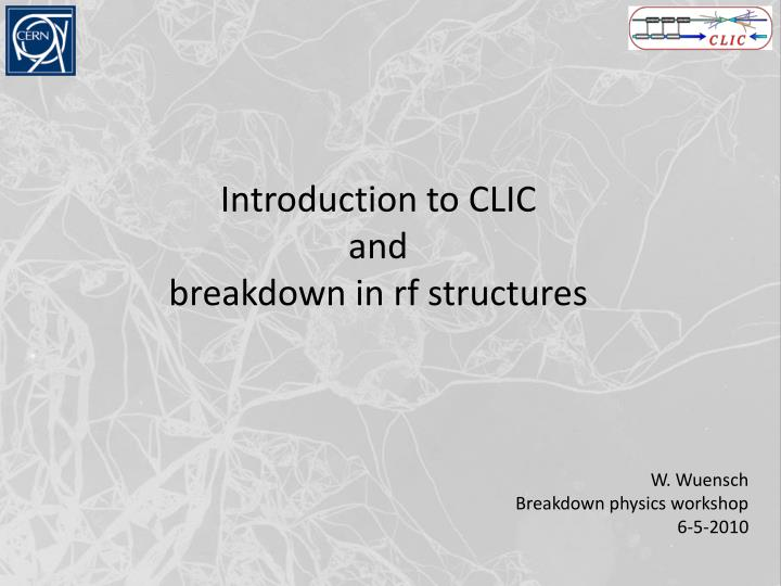 Introduction to CLIC