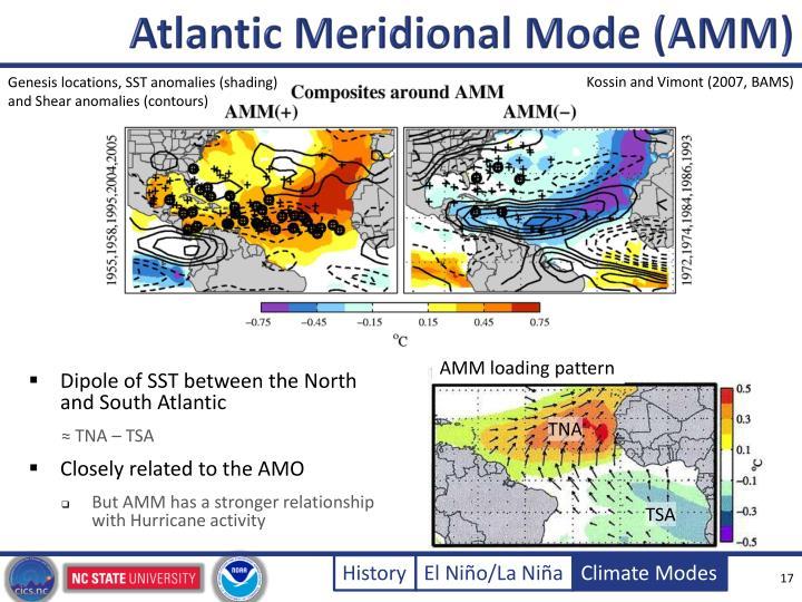 Atlantic Meridional Mode (AMM)
