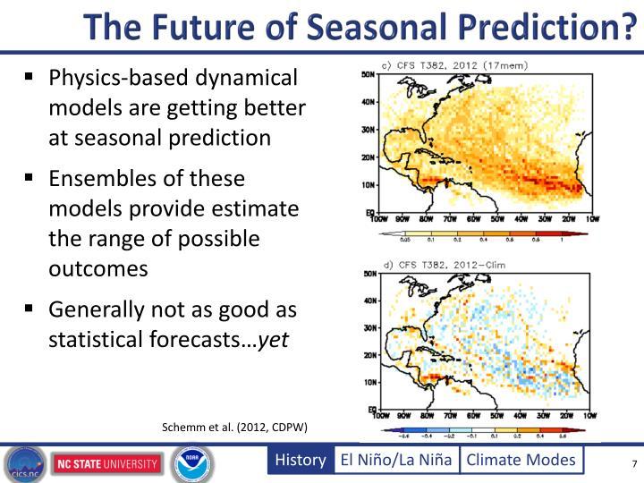 The Future of Seasonal Prediction?