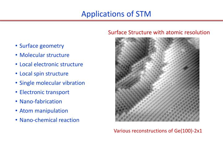 Applications of STM