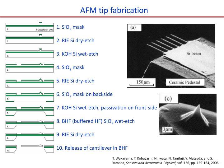 AFM tip fabrication