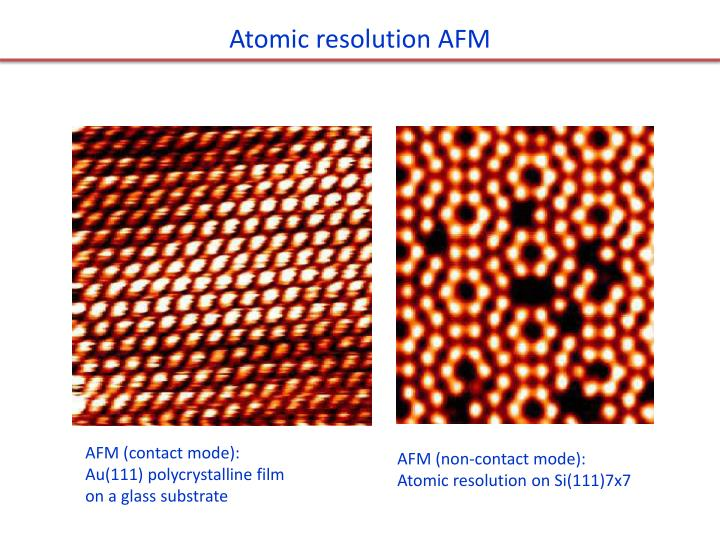 Atomic resolution AFM