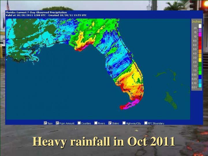 Heavy rainfall in Oct 2011