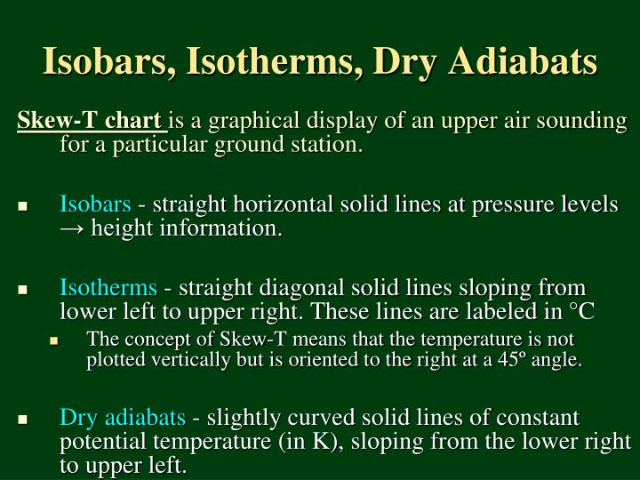 Isobars, Isotherms, Dry Adiabats