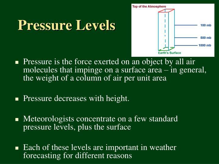 Pressure levels