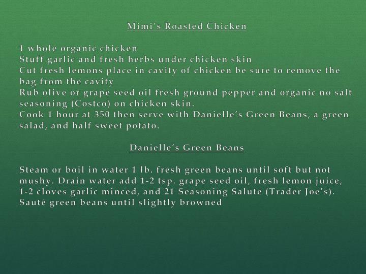 Mimi's Roasted Chicken
