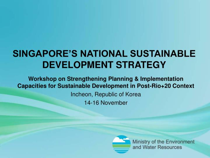 singapore s national sustainable development strategy n.