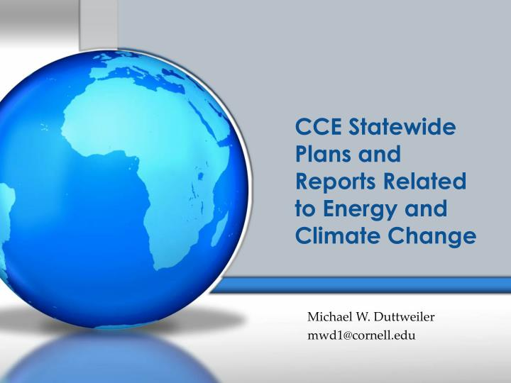 cce statewide plans and reports related to energy and climate change n.