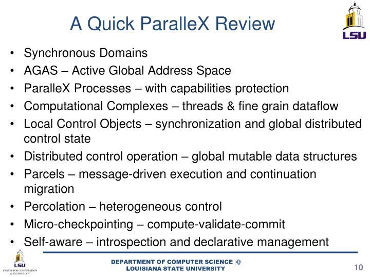 A Quick ParalleX Review