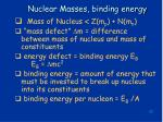 nuclear masses binding energy