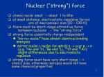 nuclear strong force