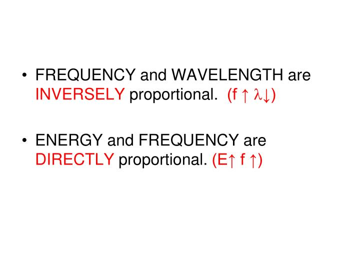 FREQUENCY and WAVELENGTH are