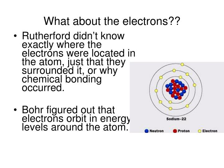 What about the electrons??