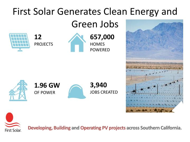 First Solar Generates Clean Energy and Green Jobs