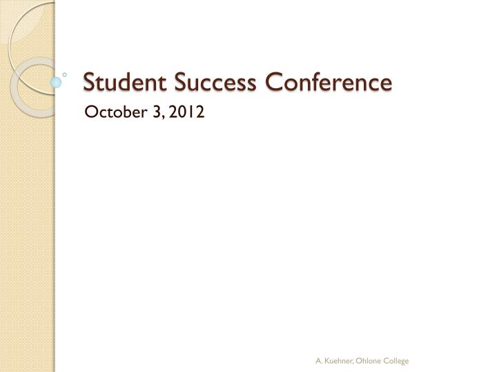 student success conference n.