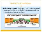speciation limitations1