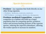 species interactions1