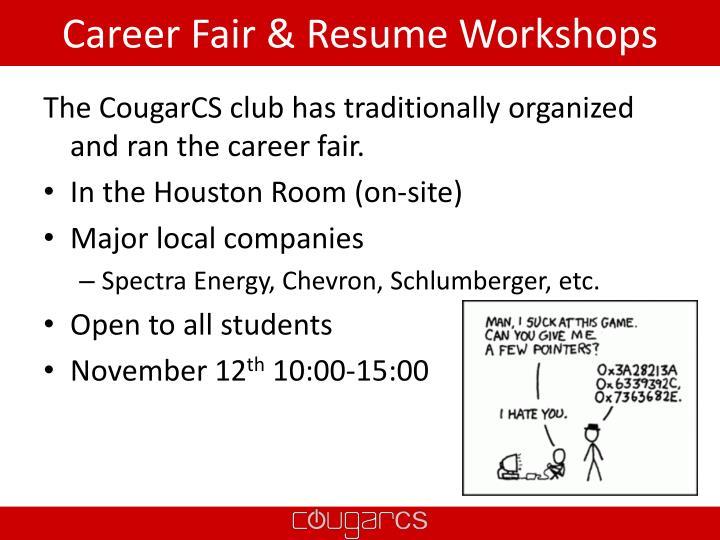 Career Fair & Resume Workshops