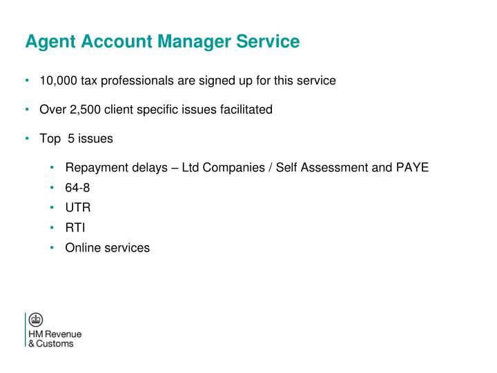 Agent Account Manager Service